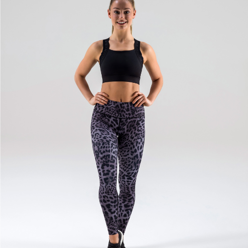 Full Length Legging - Topaz Leopard High Waist - Born Nouli