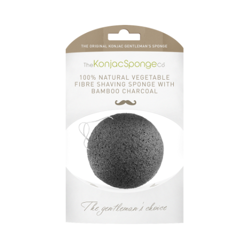 Konjac Gentleman's Shaving Sponge With Bamboo Charcoal - The Konjac Sponge Co.