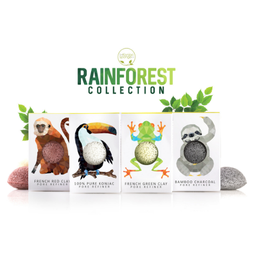 Konjac Mini Pore Refiner Rainforest Monkey - The Konjac Sponge Co.