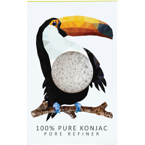 Konjac Mini Pore Refiner Rainforest Toucan - The Konjac Sponge Co.