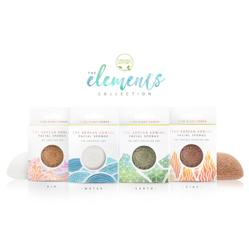 The Elements: Fire Full Size Facial Sponge - The Konjac Sponge Co.