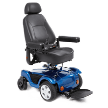 Load image into Gallery viewer, Merits Health Blue / Right Merits Compact FWD/RWD Dualer Power Wheelchair P312