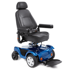 Merits Health Blue / Right Merits Compact FWD/RWD Dualer Power Wheelchair P312