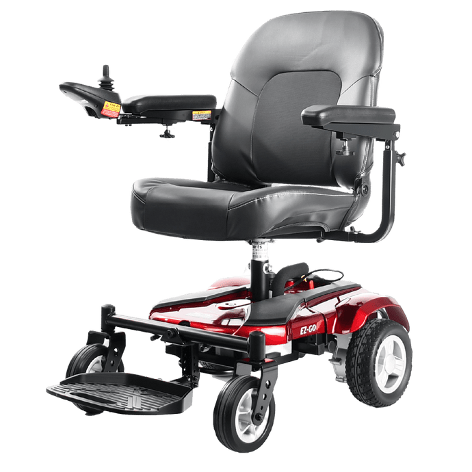 Merits Health Red / Right / Fish-on seat Merits EZ-GO Standard Power Wheelchair P321A