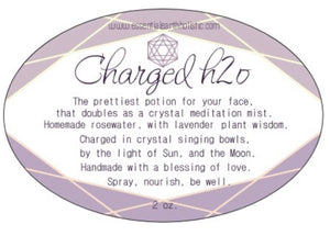 Charged H2O facial mist with genuine Amethyst crystal