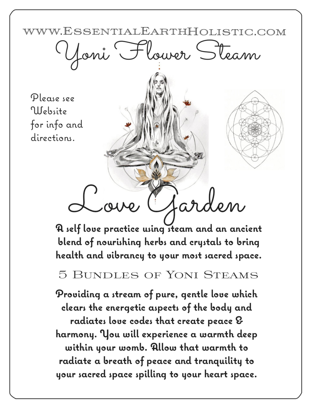 Love Garden Yoni Flower Steam