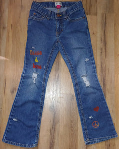 RTS Distressed Jeans Size 6x/7