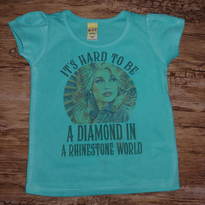 It's Hard to be a Diamond in a Rhinestone World Kids or Adult Tee