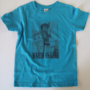 Waitin' on Lane Western Rodeo Legend Kids or Adult Tee