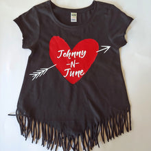 Load image into Gallery viewer, Johnny 'N June Girls Tee and Fringe Tops