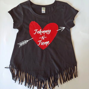 Johnny 'N June Girls Tee and Fringe Tops