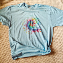Load image into Gallery viewer, Don't Worry Be Hippie Tie Dye Kids & Adult Tee