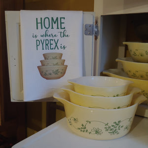 Home is Where the Pyrex Is Shenandoah Bowls Waffle Weave Dishtowel