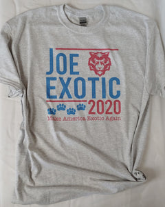 Joe Exotic 2020 Tiger King Adult Tees