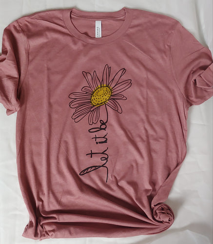 Let It Be Daisy Adult Tee