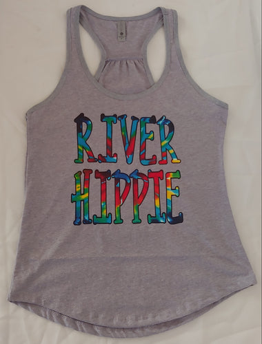 River Hippie Tie Dye Design Adult Tees and tanks