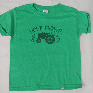 Home Grown Farm Tractor Adult and Kids Tees