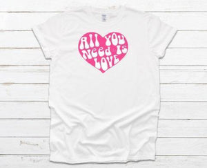All You Need Is Love Kids Long and Short Sleeve Tees