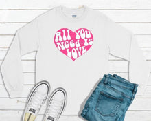 Load image into Gallery viewer, All You Need Is Love Kids Long and Short Sleeve Tees