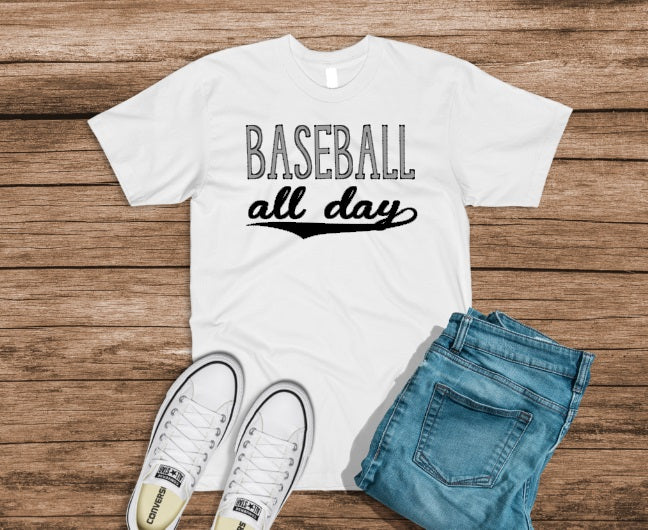 Baseball/Softball All Day Kids & Adult Tees
