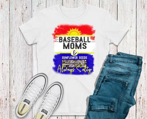 Salty Baseball Moms Adult Tee or Raglan