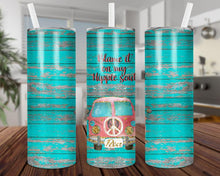Load image into Gallery viewer, Blame It On My Hippie Soul Tumbler