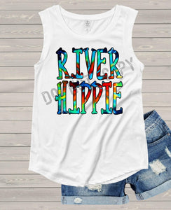 River Hippie Tie Dye Design Kids Tees and tanks