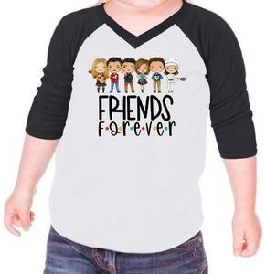 Friends Crew Kids Raglans