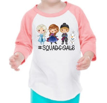 Load image into Gallery viewer, Frozen Squad Goals Raglan