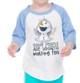 Some People Are Worth Melting For Frozen Raglan