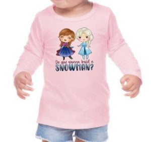 Do You Want To Build A Snowman Frozen Shirt