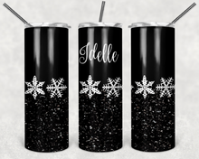 Load image into Gallery viewer, Pyrex Black Snowflake Tumbler