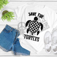 Load image into Gallery viewer, Save the Turtles Adult T-Shirt