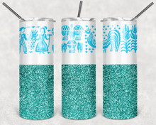 Load image into Gallery viewer, Pyrex Butterprint Teal Tumbler