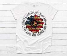 Load image into Gallery viewer, She's A Good Girl 4th of July Patriotic Adult Tees & Tanks
