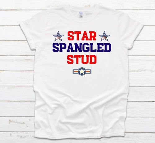 Star Spangled Stud 4th of July Patriotic Tees for guys