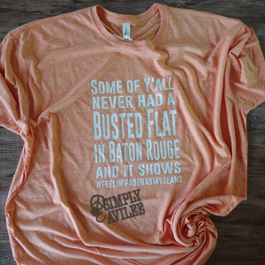 Busted Flat Rock Lyrics Tee