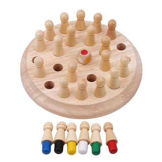 Kids Wooden Memory Match Stick Chess Game - LeisureField