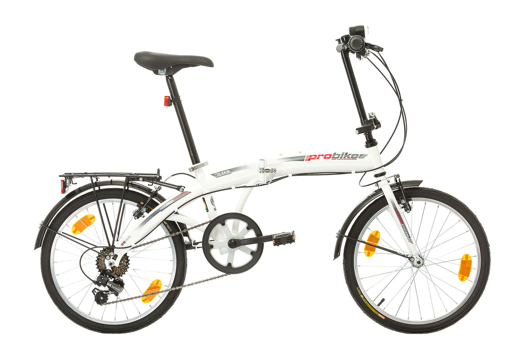 PROBIKE FOLDING 20 6P WHITE RED