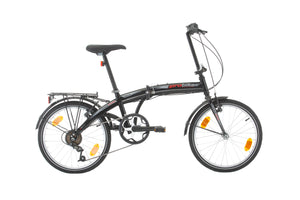 "PROBIKE, FOLDING 20"", 6SP, BLACK/RED"