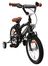 Load image into Gallery viewer, AMIGO BMX Fun 14 Inch 21 cm Boys Coaster Brake Matte black
