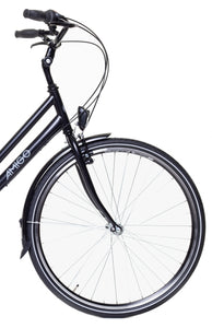AMIGO Bright 28 Inch 53 cm Women 3SP Coaster Brake Matte black