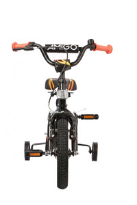 AMIGO Firefighter 12 Inch 17 cm Boys Coaster Brake Matte black