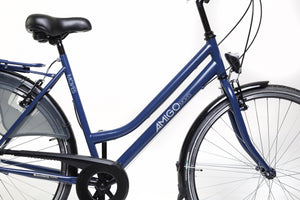 AMIGO Moves 28 Inch 52 cm Women 6SP Rim Brakes Matte blue