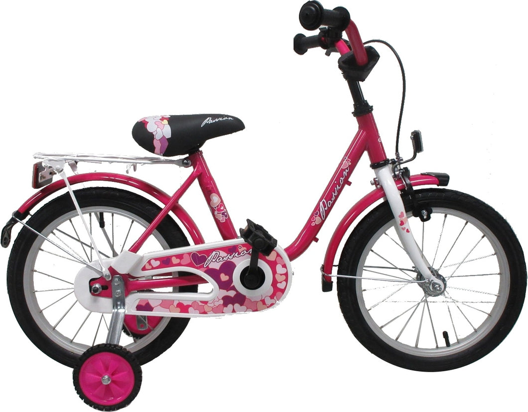 Passion 16 Inch 27 cm Girls Coaster Brake Pink