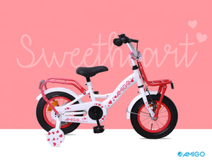 AMIGO Sweetheart 12 Inch 21 cm Girls Coaster Brake White