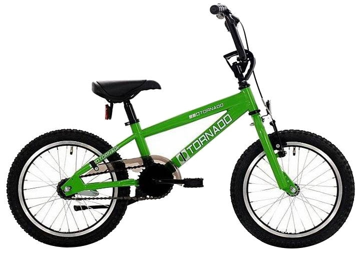 Bike Fun Cross Tornado 16 Inch 34 cm Junior Coaster Brake Green