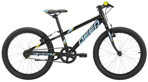 Deed Rookie 201 20 Inch 24 cm Boys Rim Brakes Black/Light blue