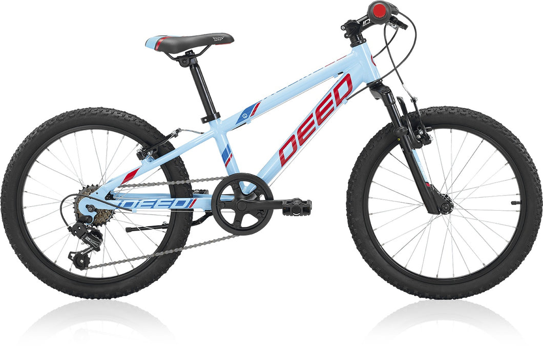 Deed Rookie 206 20 Inch 24 cm Boys 6SP Rim Brakes Light blue/Red
