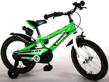 Load image into Gallery viewer, Kawasaki Children's Bike 16 Inch 25,4 cm Boys Caliper Green